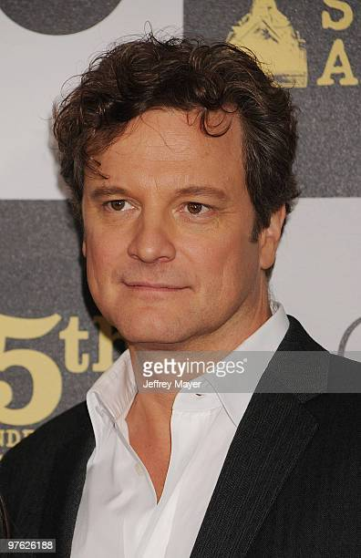 Actor Colin Firth attends the 2010 Film Independent's Spirit Awards at Nokia Theatre LA Live on March 5 2010 in Los Angeles California