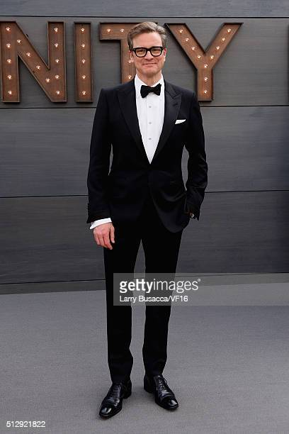 Actor Colin Firth attends the 2016 Vanity Fair Oscar Dinner Hosted By Graydon Carter at Wallis Annenberg Center for the Performing Arts on February...