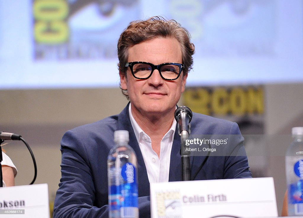 Actor <a gi-track='captionPersonalityLinkClicked' href=/galleries/search?phrase=Colin+Firth&family=editorial&specificpeople=201620 ng-click='$event.stopPropagation()'>Colin Firth</a> attends the 20th Century Fox presentation during Comic-Con International 2014 at San Diego Convention Center on July 25, 2014 in San Diego, California.