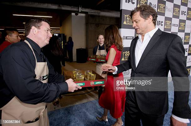 Actor Colin Firth attends the 25th Independent Spirit Awards Hosted By Jameson Irish Whiskey held at Nokia Theatre LA Live on March 5 2010 in Los...