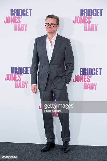 Actor Colin Firth attends the Bridget Jones' Baby photocall at Villamagna Hotel on September 9 2016 in Madrid Spain