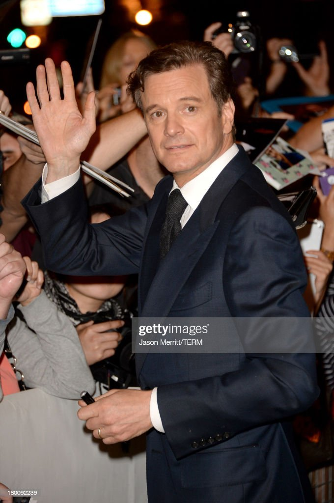 Actor <a gi-track='captionPersonalityLinkClicked' href=/galleries/search?phrase=Colin+Firth&family=editorial&specificpeople=201620 ng-click='$event.stopPropagation()'>Colin Firth</a> attends 'The Devil's Knot' premiere during the 2013 Toronto International Film Festival at The Elgin on September 8, 2013 in Toronto, Canada.