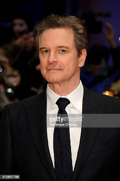 Actor Colin Firth attends the 'Genius' premiere during the 66th Berlinale International Film Festival Berlin at Berlinale Palace on February 16 2016...