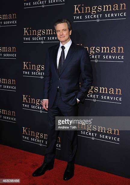 Actor Colin Firth attends the 'Kingsman The Secret Service' New York premiere at SVA Theater on February 9 2015 in New York City