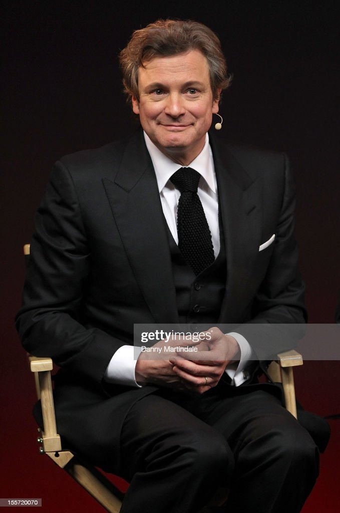 Actor <a gi-track='captionPersonalityLinkClicked' href=/galleries/search?phrase=Colin+Firth&family=editorial&specificpeople=201620 ng-click='$event.stopPropagation()'>Colin Firth</a> attends the Meet The Filmmakers event for Gambit at Apple Store, Regent Street on November 7, 2012 in London, England.