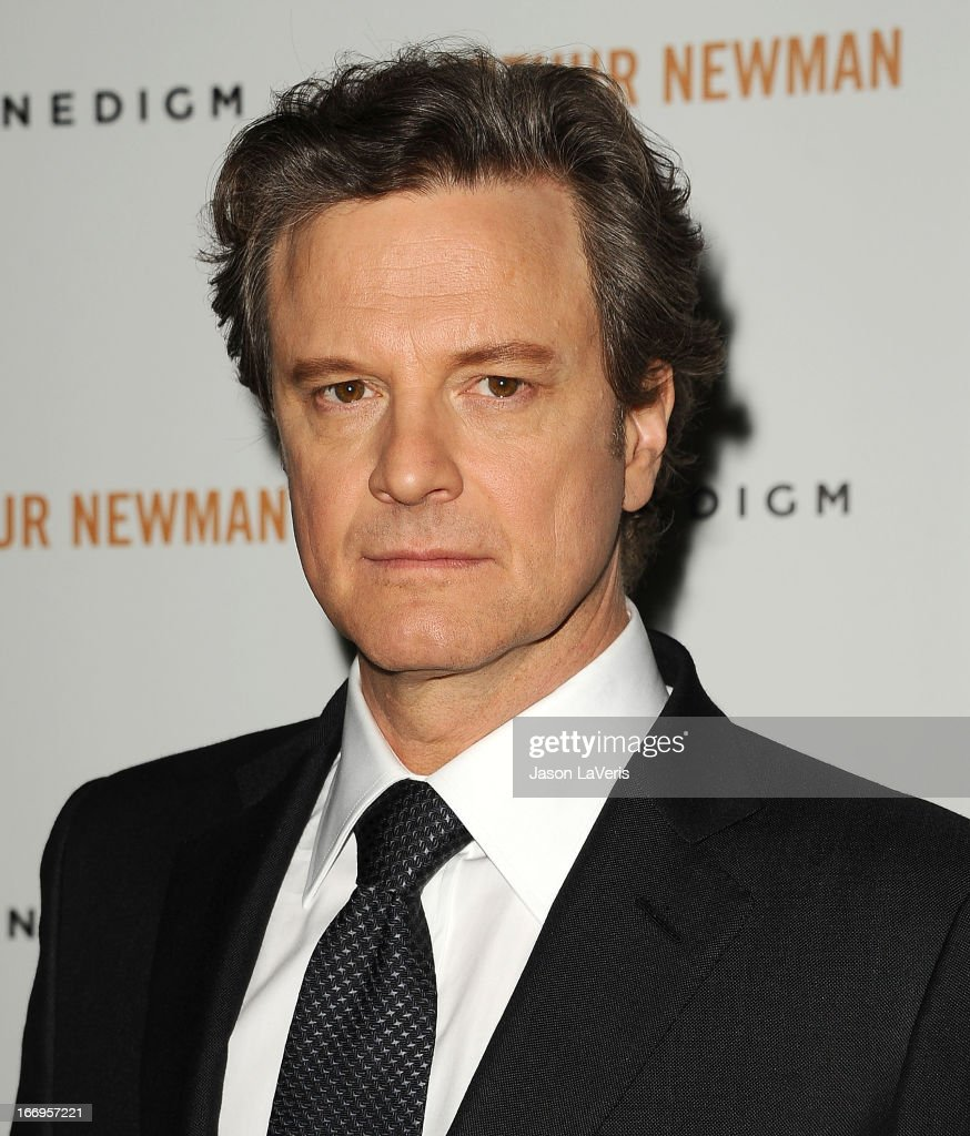 Actor <a gi-track='captionPersonalityLinkClicked' href=/galleries/search?phrase=Colin+Firth&family=editorial&specificpeople=201620 ng-click='$event.stopPropagation()'>Colin Firth</a> attends the premiere of 'Arthur Newman' at ArcLight Hollywood on April 18, 2013 in Hollywood, California.
