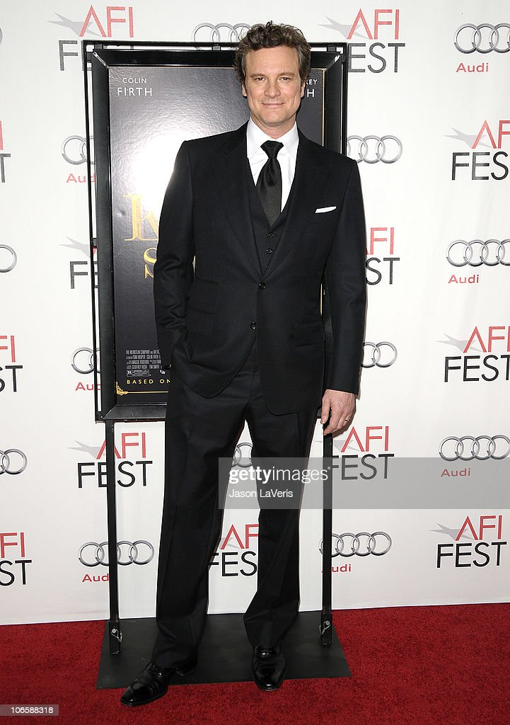 Actor Colin Firth attends the premiere of 'The King's Speech' during the 2010 AFI Fest at Grauman's Chinese Theatre on November 5, 2010 in Hollywood, California.