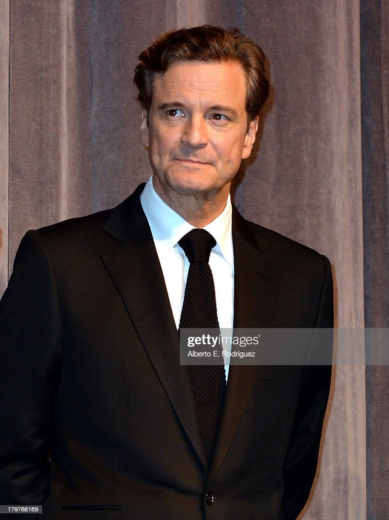 Actor <a gi-track='captionPersonalityLinkClicked' href=/galleries/search?phrase=Colin+Firth&family=editorial&specificpeople=201620 ng-click='$event.stopPropagation()'>Colin Firth</a> attends the 'The Railway Man' Premiere during the 2013 Toronto International Film Festival at Roy Thomson Hall on September 6, 2013 in Toronto, Canada.