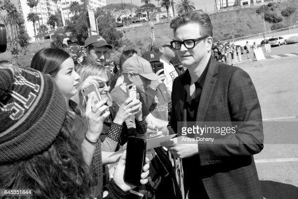 Actor Colin Firth during the 2017 Film Independent Spirit Awards at the Santa Monica Pier on February 25 2017 in Santa Monica California