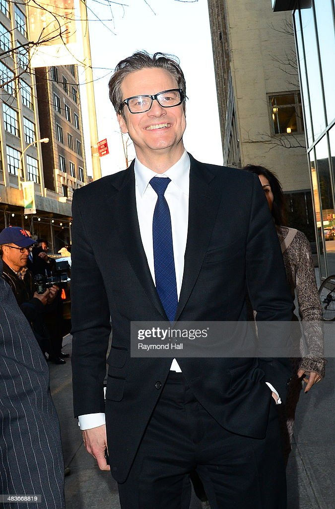 Actor <a gi-track='captionPersonalityLinkClicked' href=/galleries/search?phrase=Colin+Firth&family=editorial&specificpeople=201620 ng-click='$event.stopPropagation()'>Colin Firth</a> is seen walking in Soho on April 9, 2014 in New York City.