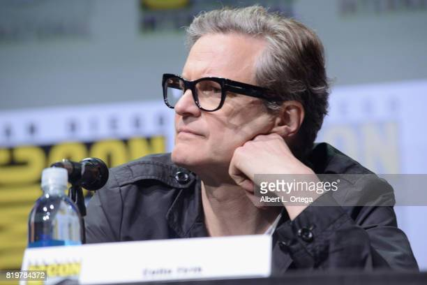 Actor Colin Firth speaks onstage at the 20th Century FOX panel during ComicCon International 2017 at San Diego Convention Center on July 20 2017 in...