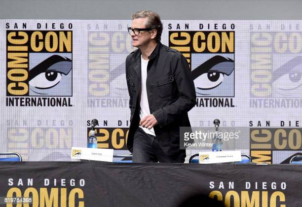 Actor Colin Firth walks onstage at the 20th Century FOX panel during ComicCon International 2017 at San Diego Convention Center on July 20 2017 in...