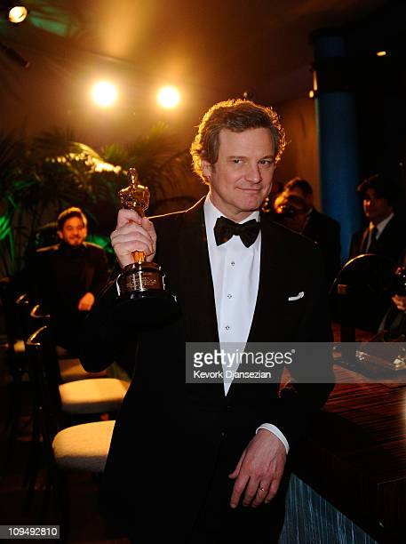 Actor Colin Firth winner of the award for Best Actor in a Leading Role for 'The King's Speech' attends the Governors Ball on February 27 2011 in...