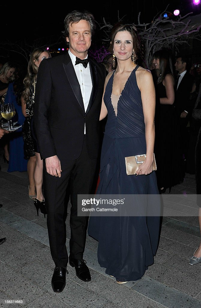 Actor <a gi-track='captionPersonalityLinkClicked' href=/galleries/search?phrase=Colin+Firth&family=editorial&specificpeople=201620 ng-click='$event.stopPropagation()'>Colin Firth</a> with his wife Livia attend the 2012 Dubai International Film Festival, Dubai Cares and Oxfam 'One Night to Change Lives' Charity Gala at the Armani Hotel on December 14, 2012 in Dubai, United Arab Emirates.