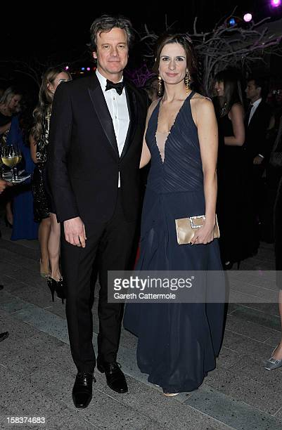 Actor Colin Firth with his wife Livia attend the 2012 Dubai International Film Festival Dubai Cares and Oxfam 'One Night to Change Lives' Charity...