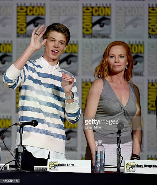 Actor Colin Ford and actress Marg Helgenberger attend the CBS TV Studios' panel for 'Under the Dome' during ComicCon International 2015 at the San...