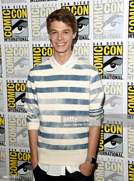 Actor Colin Ford attends the CBS Television Studios press room during ComicCon International 2015 at the Hilton Bayfront on July 9 2015 in San Diego...