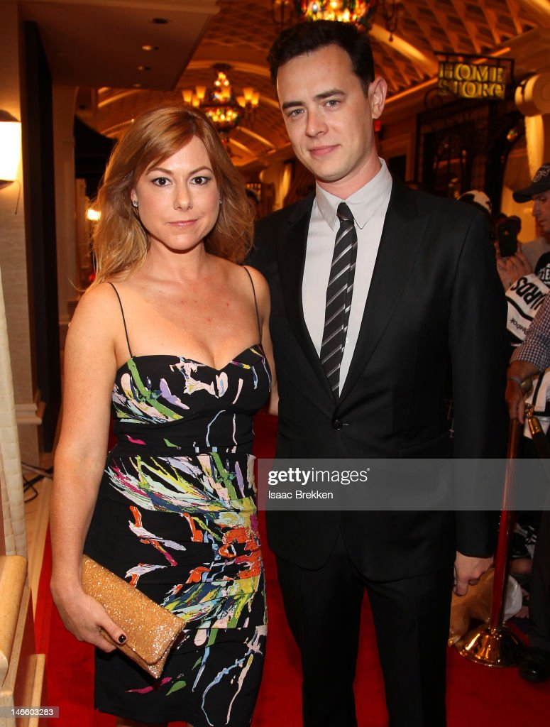 Actor <a gi-track='captionPersonalityLinkClicked' href=/galleries/search?phrase=Colin+Hanks+-+Actor&family=editorial&specificpeople=584005 ng-click='$event.stopPropagation()'>Colin Hanks</a> and his wife Samantha Bryant arrive before the 2012 NHL Awards at the Encore Theater at the Wynn Las Vegas on June 20, 2012 in Las Vegas, Nevada.