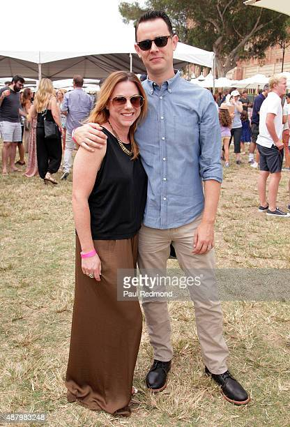 Actor Colin Hanks and Samantha Bryant attend the 6th Annual LA Loves Alex's Lemonade at UCLA on September 12 2015 in Los Angeles California