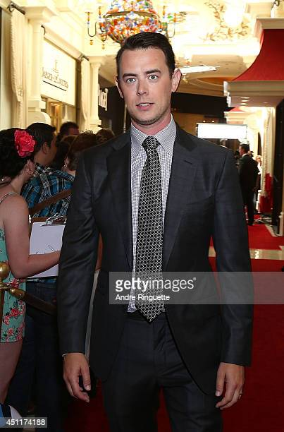 Actor Colin Hanks arrives at the 2014 NHL Awards at Encore Las Vegas on June 24 2014 in Las Vegas Nevada