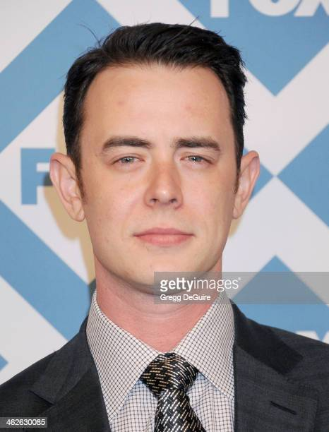 Actor Colin Hanks arrives at the 2014 TCA winter press tour FOX allstar party at The Langham Huntington Hotel and Spa on January 13 2014 in Pasadena...