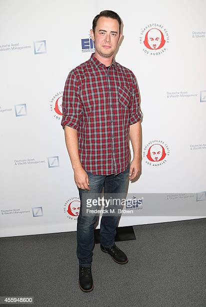 Actor Colin Hanks attends the 24th Annual Simply Shakespeare at the Freud Playhouse UCLA on September 22 2014 in Westwood California