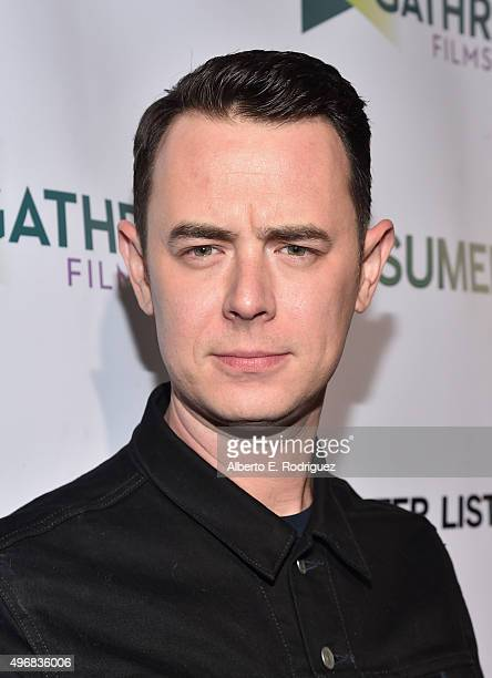 Actor Colin Hanks attends the Los Angeles premiere of Mister Lister Films' 'Consumed' at Laemmle Music Hall on November 11 2015 in Beverly Hills...