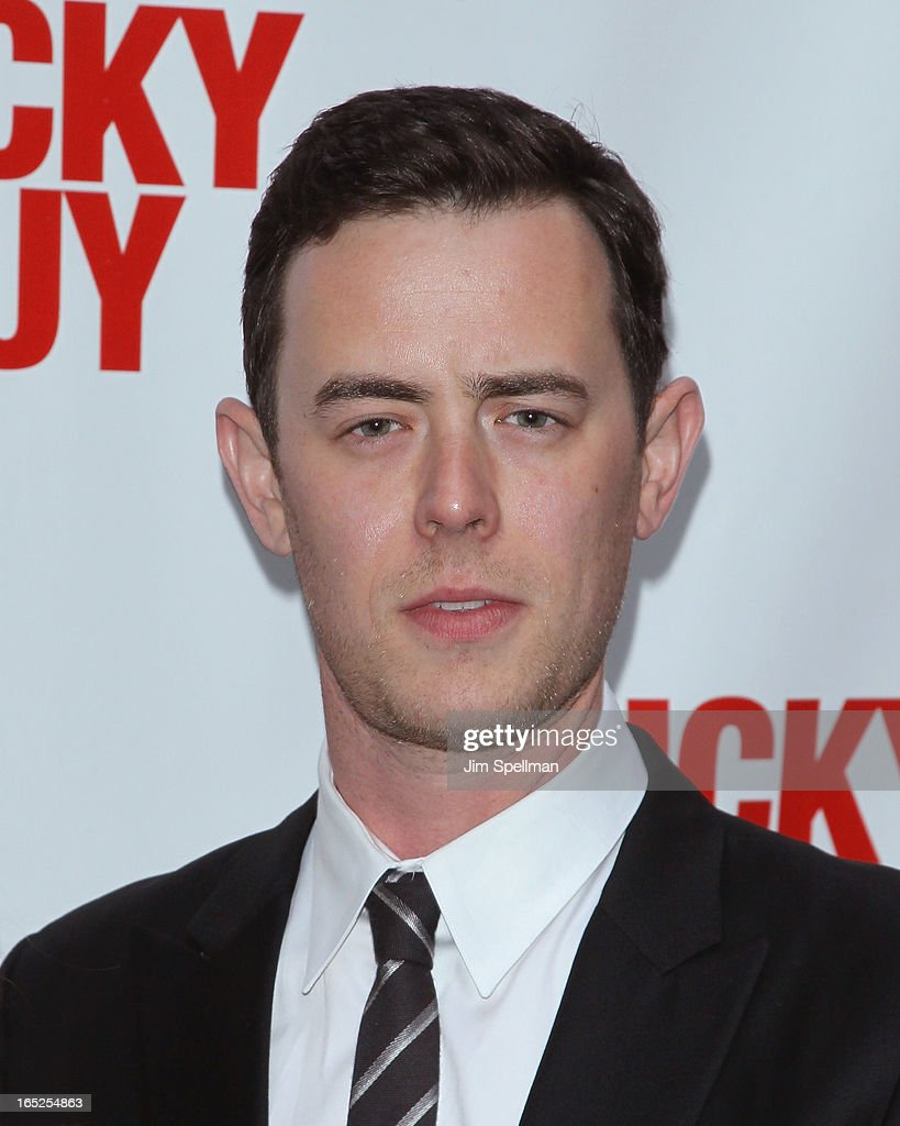 Actor <a gi-track='captionPersonalityLinkClicked' href=/galleries/search?phrase=Colin+Hanks+-+Actor&family=editorial&specificpeople=584005 ng-click='$event.stopPropagation()'>Colin Hanks</a> attends the 'Lucky Guy' Broadway Opening Night - Arrivals & Curtain Call at The Broadhurst Theatre on April 1, 2013 in New York City.