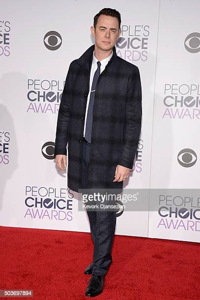 Actor Colin Hanks attends the People's Choice Awards 2016 at Microsoft Theater on January 6 2016 in Los Angeles California