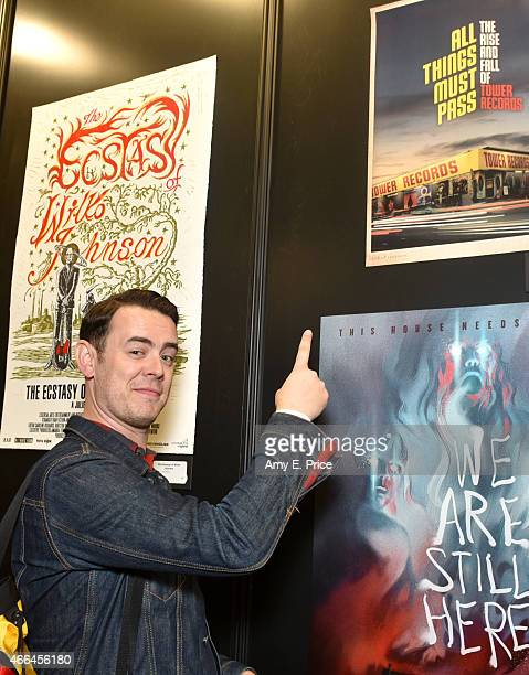 Actor Colin Hanks attends the premiere of 'Deep Web' during the 2015 SXSW Music Film Interactive Festival at the Austin Convention Center on March 15...