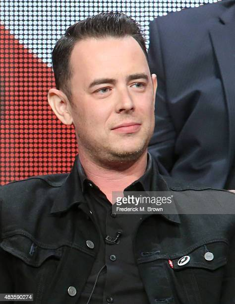 Actor Colin Hanks speaks onstage during the 'Code Black' panel discussion at the CBS portion of the 2015 Summer TCA Tour at The Beverly Hilton Hotel...