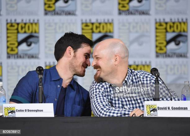 Actor Colin O'Donoghue and writer/producer David H Goodman attend ABC's 'Once Upon A Time' panel during ComicCon International 2017 at San Diego...