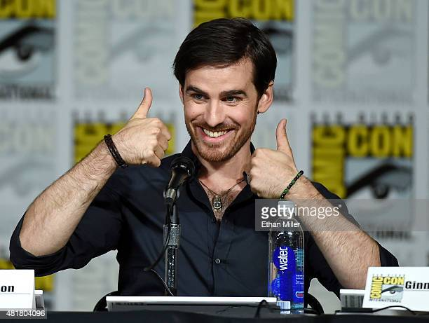 Actor Colin O'Donoghue attends the 'Once Upon a Time' panel during ComicCon International 2015 at the San Diego Convention Center on July 11 2015 in...