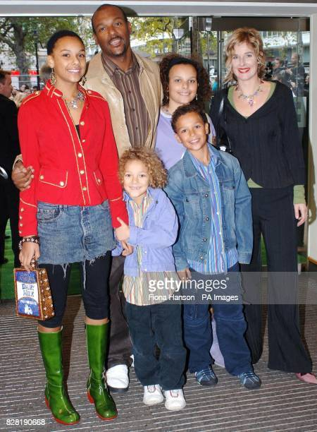 Actor Colin Salmon and family arrive for the UK premiere of 'Wallace Gromit The Curse of the WereRabbit' at the Odeon Leicester Square central London...