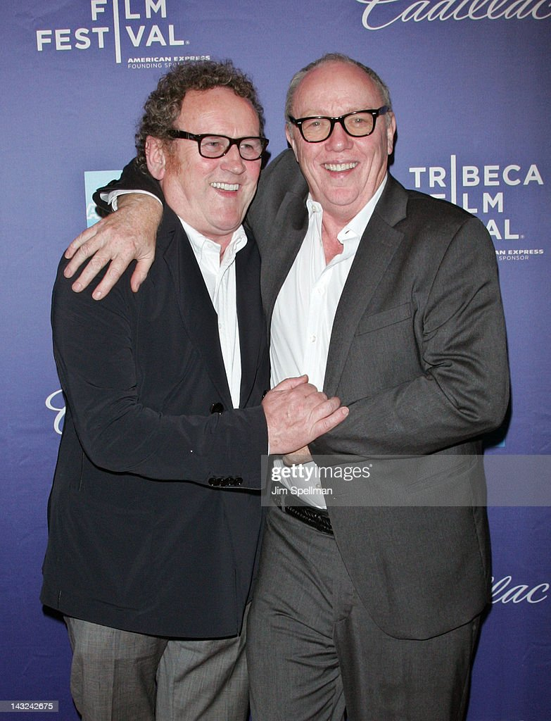 Actor <a gi-track='captionPersonalityLinkClicked' href=/galleries/search?phrase=Colm+Meaney&family=editorial&specificpeople=239198 ng-click='$event.stopPropagation()'>Colm Meaney</a> and director <a gi-track='captionPersonalityLinkClicked' href=/galleries/search?phrase=Terry+George&family=editorial&specificpeople=208726 ng-click='$event.stopPropagation()'>Terry George</a> attend the premiere of 'Whole Lotta Sole' during the 2012 Tribeca Film Festival at BMCC Tribeca PAC on April 21, 2012 in New York City.