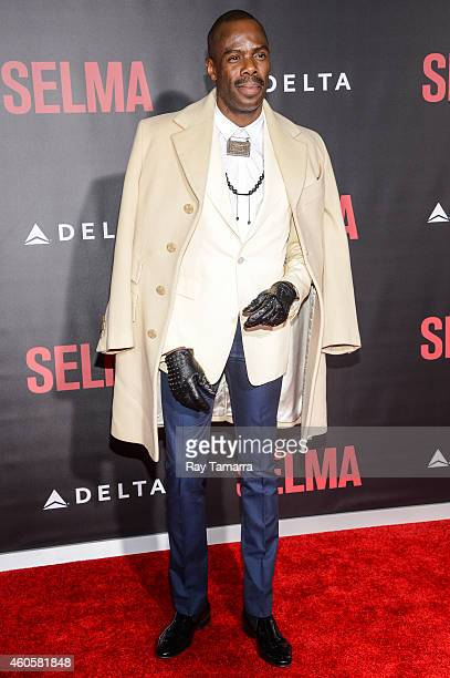 Actor Colman Domingo enters the 'Selma' New York Premiere at the Ziegfeld Theater on December 14 2014 in New York City