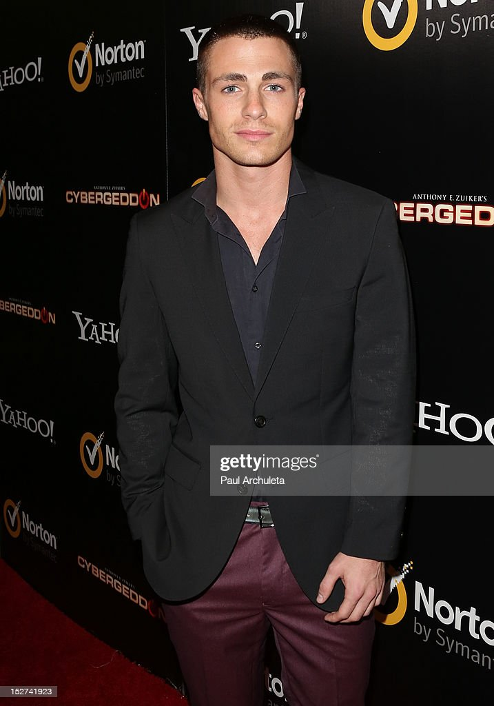 Actor Colton Hayes attends the 'Cybergeddon' premiere at the Pacific Design Center on September 24, 2012 in West Hollywood, California.