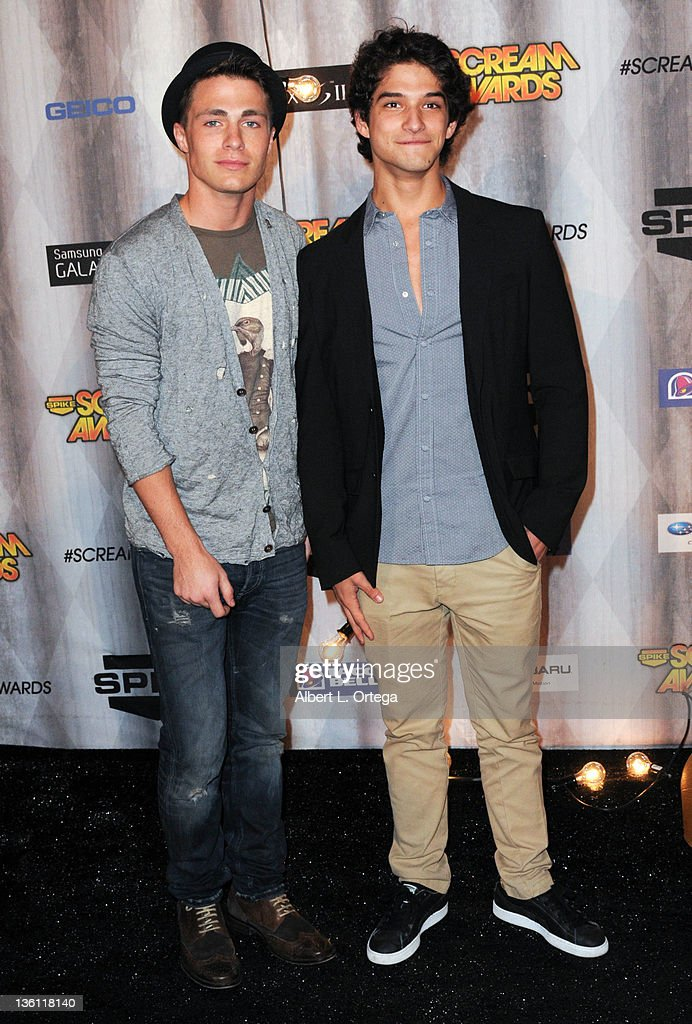 Actor Colton Haynes and actor Tyler Posey arrive at Spike TV's 'Scream Awards 2011' at Universal Studios Backlot on October 15, 2011 in Universal City, California.