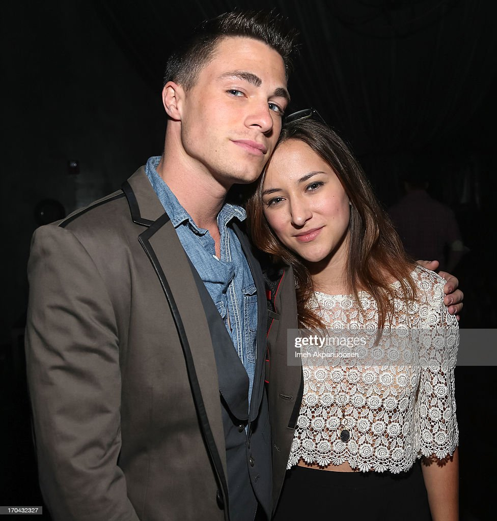 Actor Colton Haynes (L) and actress Zelda Williams attend Matthew Morrison's performance at The Sayers Club on June 12, 2013 in Hollywood, California.