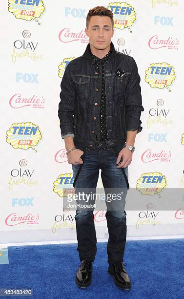 Actor Colton Haynes arrives at the 2014 Teen Choice Awards at The Shrine Auditorium on August 10 2014 in Los Angeles California
