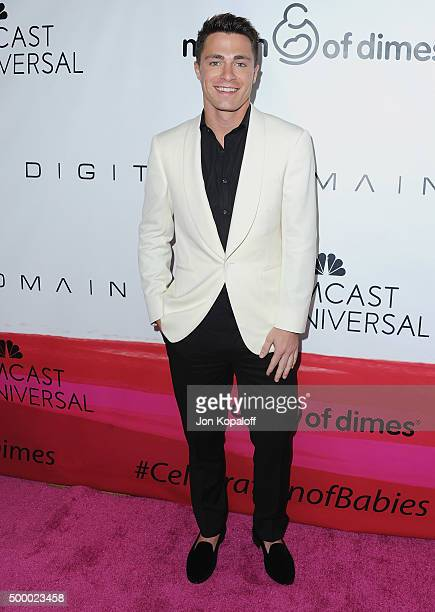 Actor Colton Haynes arrives at the 2015 March Of Dimes Celebration Of Babies at the Beverly Wilshire Four Seasons Hotel on December 4 2015 in Beverly...