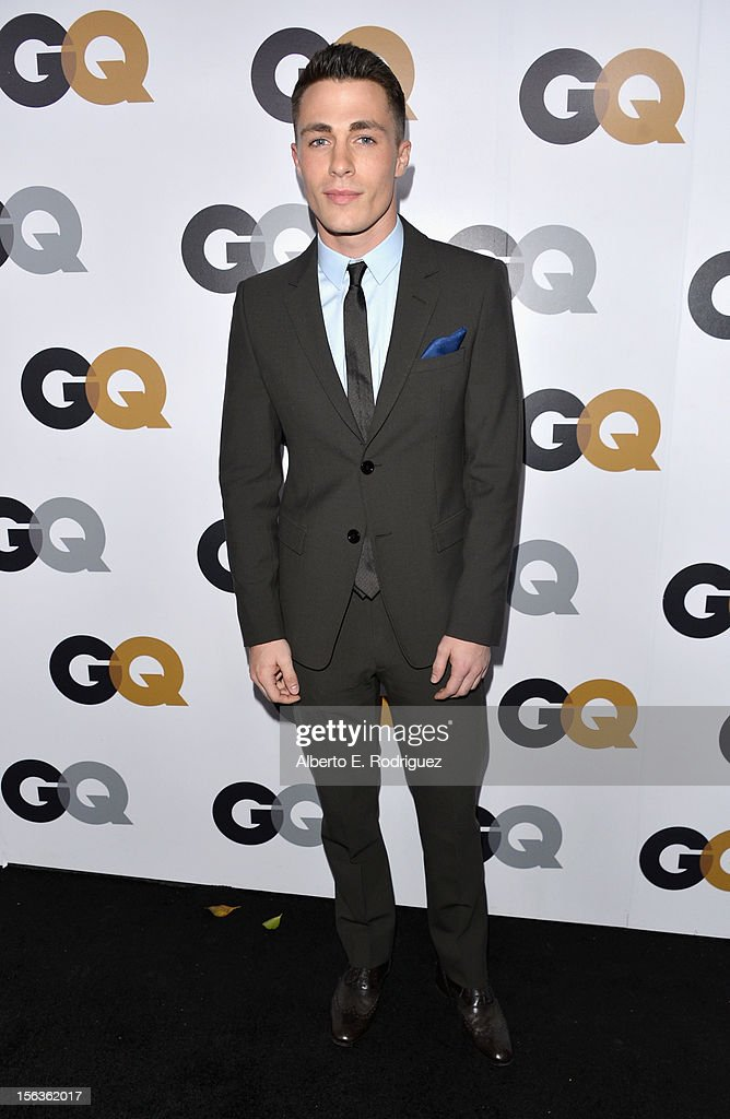 Actor Colton Haynes arrives at the GQ Men of the Year Party at Chateau Marmont on November 13, 2012 in Los Angeles, California.