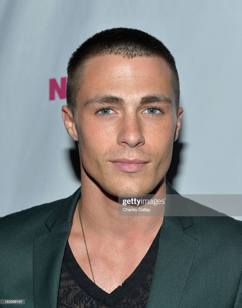 Actor <a gi-track='captionPersonalityLinkClicked' href=/galleries/search?phrase=Colton+Haynes&family=editorial&specificpeople=4282136 ng-click='$event.stopPropagation()'>Colton Haynes</a> arrives at the NYLON and And Sony X Headphones September TV issue launch event with cover star, Lea Michele at Mr. C Beverly Hills on September 15, 2012 in Beverly Hills, California.
