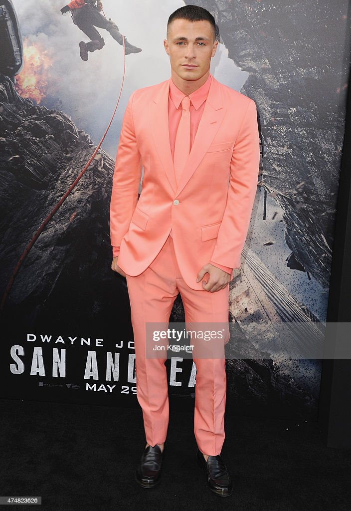 Actor <a gi-track='captionPersonalityLinkClicked' href=/galleries/search?phrase=Colton+Haynes&family=editorial&specificpeople=4282136 ng-click='$event.stopPropagation()'>Colton Haynes</a> arrives at the Premiere Of Warner Bros. Pictures' 'San Andreas' at TCL Chinese Theatre on May 26, 2015 in Hollywood, California.