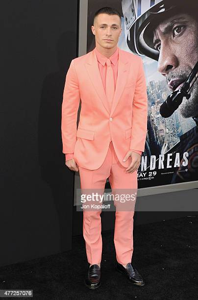 Actor Colton Haynes arrives at the Premiere Of Warner Bros Pictures' 'San Andreas' at TCL Chinese Theatre on May 26 2015 in Hollywood California