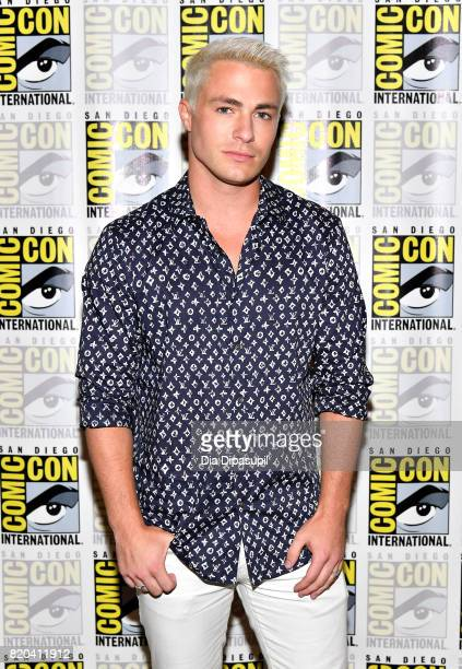 Actor Colton Haynes at the 'Teen Wolf' Press Line during ComicCon International 2017 at Hilton Bayfront on July 21 2017 in San Diego California