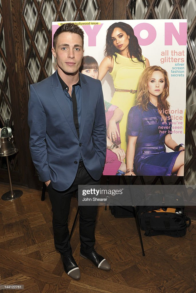 Actor <a gi-track='captionPersonalityLinkClicked' href=/galleries/search?phrase=Colton+Haynes&family=editorial&specificpeople=4282136 ng-click='$event.stopPropagation()'>Colton Haynes</a> attends NYLON Magazine And Tommy Girl Celebrate The Annual May Young Hollywood Issue - Dinner at Hollywood Roosevelt Hotel on May 9, 2012 in Hollywood, California.
