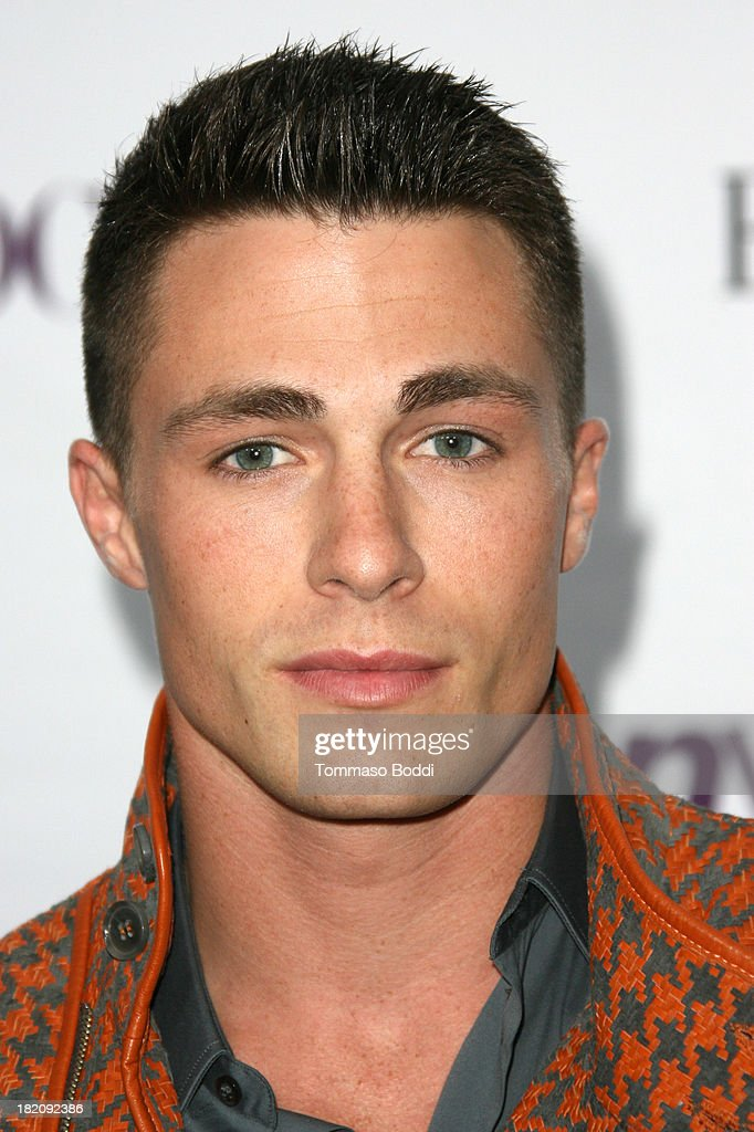 Actor <a gi-track='captionPersonalityLinkClicked' href=/galleries/search?phrase=Colton+Haynes&family=editorial&specificpeople=4282136 ng-click='$event.stopPropagation()'>Colton Haynes</a> attends the 11th Annual Teen Vogue Young Hollywood Party With Emporio Armani on September 27, 2013 in Los Angeles, California.