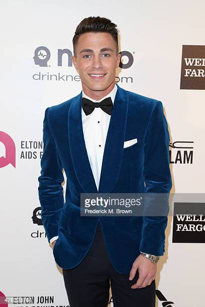 Actor Colton Haynes attends the 22nd Annual Elton John AIDS Foundation's Oscar Viewing Party on March 2 2014 in Los Angeles California