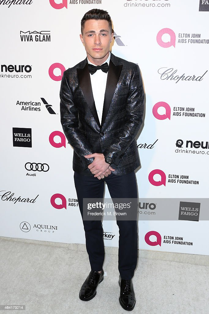 Actor <a gi-track='captionPersonalityLinkClicked' href=/galleries/search?phrase=Colton+Haynes&family=editorial&specificpeople=4282136 ng-click='$event.stopPropagation()'>Colton Haynes</a> attends the 23rd Annual Elton John AIDS Foundation's Oscar Viewing Party on February 22, 2015 in West Hollywood, California.